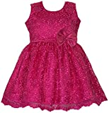 Pink Lace Dress Available in 6 months to 13 years Girls from Unnati Clothings