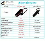 Mini Syllable Wireless Cordless Bluetooth Headphone Earphone Headset with Mic for drivers (Black)