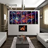 "Abstract by Ash Carl Metal Wall Art in Black Multi - 23.5"" x 60"" ~ All My Walls"