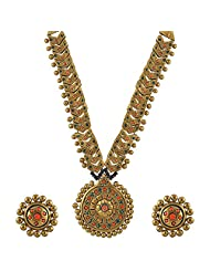 Avarna Terracotta Necklace Set Nsa0002 For Women (Gold )