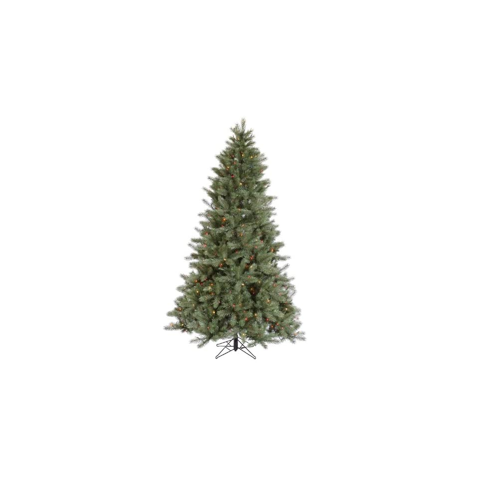 7.5 Pre Lit Blue Albany Spruce Artificial Christmas Tree   Dura Lit Multi Color Lights