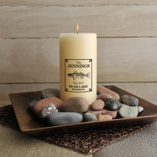 Jds Personalized Walleye Cabin Candle