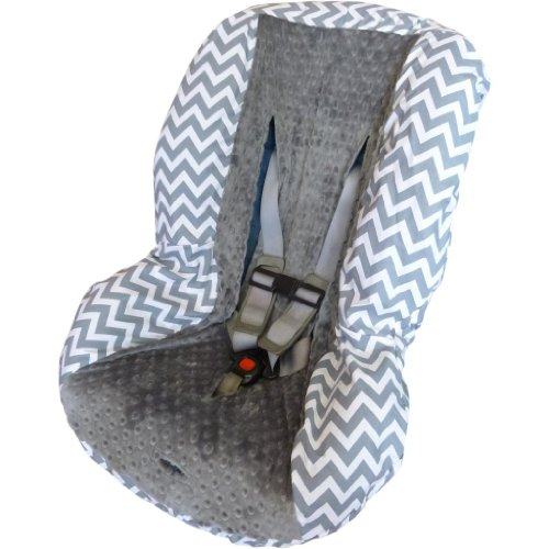 Grey Chevron With Grey Toddler Car Seat Cover