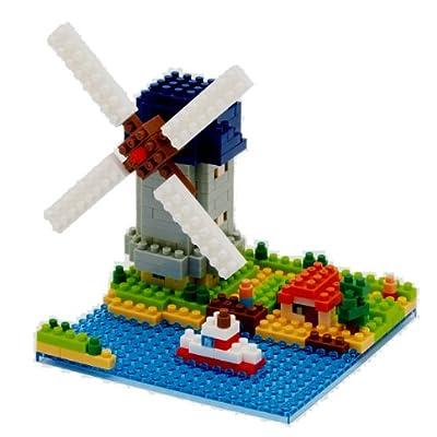 nanoblock キンデルダイク-エルスハウトの風車 NBH-043