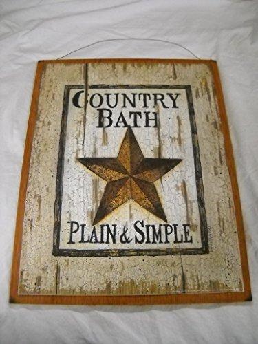 Star Bathroom Decor: Country Bath Plain & Simple Barn Star Outhouse Sign