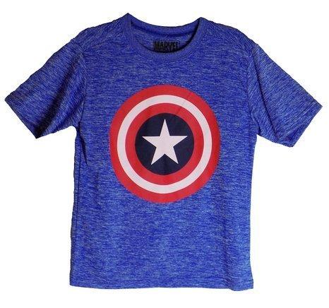 Marvel Captain America Boys Blue Fashionable T-Shirt (XS 4/5 (Captain America T Shirt Toddler compare prices)