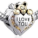 Pugster Heart I Love You Bear Clear B...