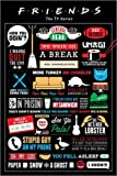 Póster Friends - Infographic - cartel económico, póster XXL