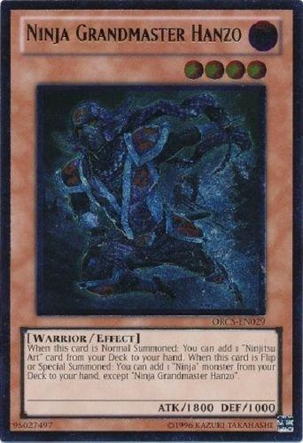 Yugioh ORCS-EN029 Ninja Grandmaster Hanzo Ultimate Rare Card .HN#GG_634T6344 G134548TY51783 (Master Hanzo compare prices)