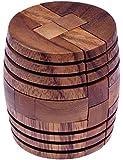 Barrel - Fass - 3D Puzzle - Denkspiel - Knobelspiel - Geduldspiel aus Holz