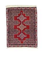 Eden Carpets Alfombra Senneh Rojo/Azul 104 x 83 cm