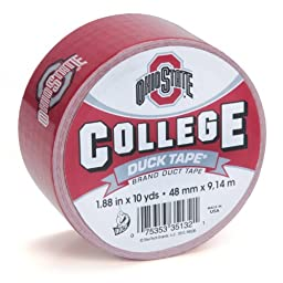 Duck Brand 281604 Ohio State University College Logo Duct Tape, 1.88-Inch by 10 Yards, Single Roll
