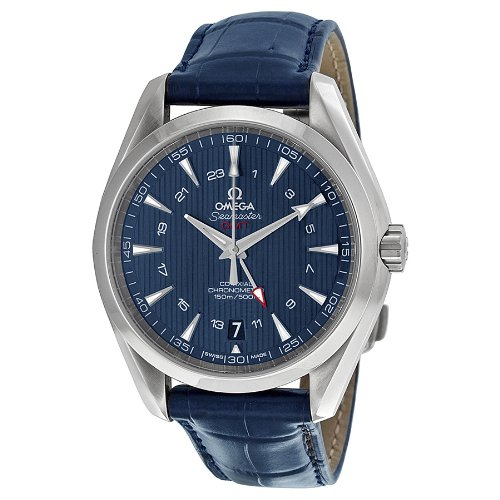 Omega Seamaster Aqua Terra Blue Dial GMT Mens Watch 23113432203001 (Omega Seamaster Blue compare prices)