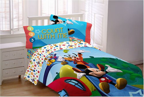 Disney Mickey 1-2-3 Count with Me Twin Comforter