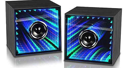 BLUETOOTH INFINITY LIGHT SPEAKER 2 PIECE SET (Leading Edge Speakers compare prices)