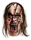 The Walking Dead TV Show, Adult Zombie Man With Split Head Latex Mask, One Size