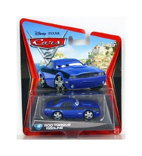 cars-2-minicar-16-rod-torque-red-line-6644i-disney-cars2-die-cast-mattel-toy-import-us-japan-import