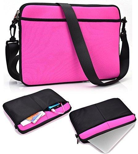 shoulder-messenger-bagbright-pink-for-acer-116-chromebook-c720p-2661-extra-pockets-strap-slim-design