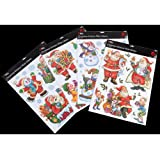 GG114 Glitter Stickers , Xmas Decorations & Gifts