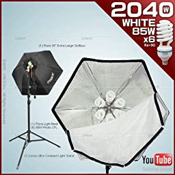 Photography Video Studio Lighting Kit with 1 Fluorescent Light Bank+1 35\