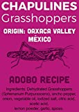 Chapulines (grasshoppers) - Gourmet edible insects from Oaxaca Mexico (Adobo recipe) (Mercado Mio 2.8 oz)
