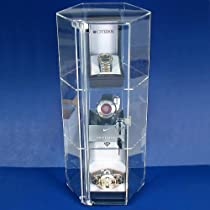 Hot Sale Large Revolving Showcase Display Locking Acrylic Case