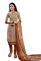 DARPAN TEXTILES Ethnicwear Women's Dress Material(Multi-Coloured_Free Size)
