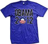 Obama 2012 Mens T-shirt, Vote Barack Obama 2012 Men's Political Tee Shirt, XXX-Large, Royal