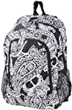 World Traveler Multipurpose Backpack 16-Inch, Black White Paisley, One Size