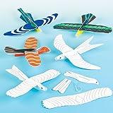 Lot de 6 Planeurs Oiseaux à colorier - Idéal pour les jeux en plein air