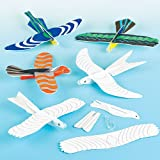 Bird Flying Gliders for Children to Colour in Party Bag Filler Games Prizes (Pack of 6)
