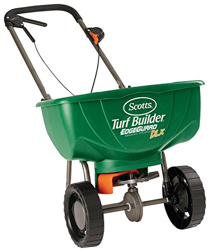 Find Bargain Scotts Turf Builder EdgeGuard Deluxe Broadcast Spreader