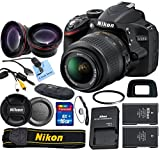 Nikon D3200 24.2 MP CMOS Digital SLR with 18-55mm f/3.5-5.6 AF-S DX VR NIKKOR Zoom Lens & Picture Perfect Package (International Model no Warranty)