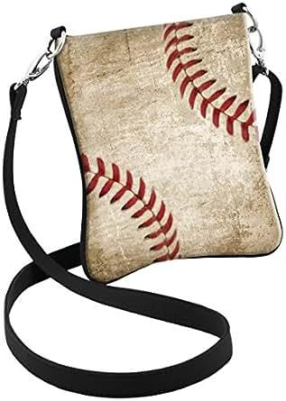 Snaptotes Baseball Stitch Design Hipster Crossbody Bag at
