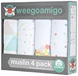 weegoamigo(ウィーゴアミーゴ) おくるみ ガーゼ 4枚 箱入り 4 Pack Muslin Fan and Games ファンアンドゲーム ランキングお取り寄せ