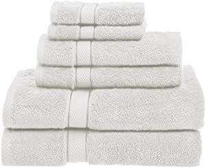 Pinzon 725-Gram Egyptian Cotton  6-Piece Towel Set, White