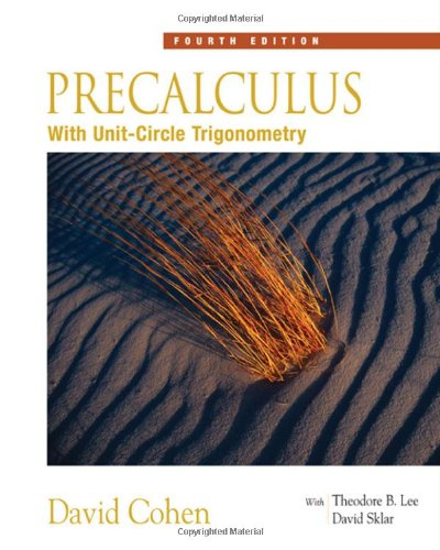 Precalculus: With Unit Circle Trigonometry (With Interactive Video Skillbuilder Cd-Rom)