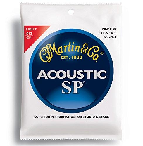 Martin MSP4100 SP Phosphor Bronze Acoustic Guitar Strings, Light
