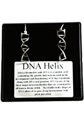DNA Earrings (Pewter) sterling silver leverbacks