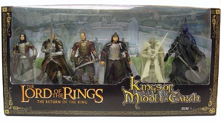 The Kings Of Middle Earth Lord Of The Rings action figure Box Set