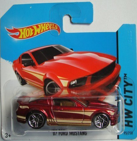 HOT WHEELS '07 FORD MUSTANG HW CITY SHORT CARD RED 95/250