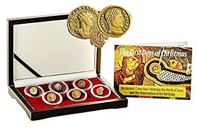 1 First Days of Christmas: : 6 Ancient Coins That Celebrate the Birth of Jesus, With Beautiful Box,Certificate And Story. Very Good