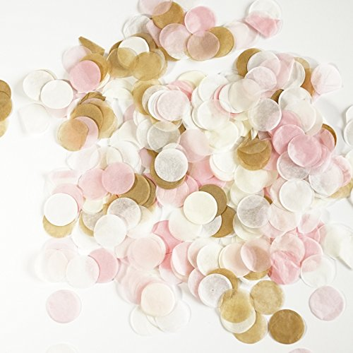 Premium 1-inch Round Tissue Paper Party Confetti - 50 Grams