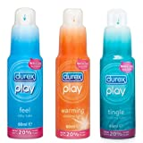 Durex Play Feel + Tingle + Warming Lubricants (3 Pack)