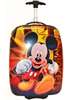 Disney Mickey Mouse Large Pilot Case Rolling Luggage Travel Backpack Hard Shell