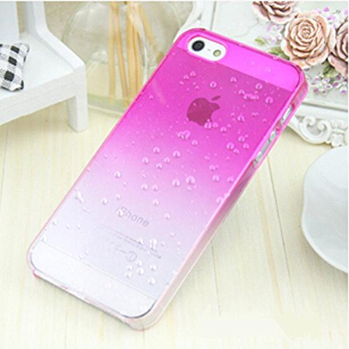 Liroyal Clear Rose Waterdrop Raindrop Hard Case Compatible With Apple Iphone 5 5S