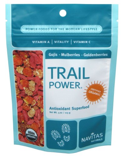 Navitas Naturals Trail Power Organic Goji, Mulberry Raw Trail Mix Powder