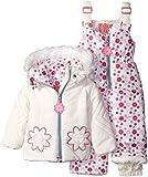 Kensie Baby Girls 2 Piece Snowsuit, Winter White, 12 Months