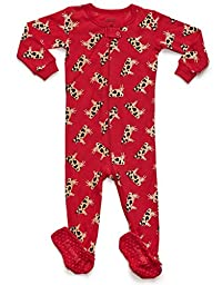 Leveret Baby Boys Girls Cow Footed Sleeper Pajama 100% Cotton (18-24 Months, Cow)