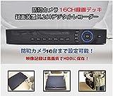 [Origin] 16CH DVR 録画装置 ビデオ信号 最大16チャンネル同時録画 H.264品質 防犯録画デッキ 防犯カメラ16台まで接続可能 全面防犯 16CH  H.264デジタルレコーダー  DVR16CH